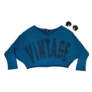 Très Bien vintage cropped sweatshirt